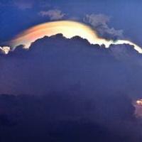 云朵七彩祥云雷暴云头像图片46