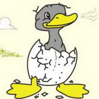 丑小鸭卡通头像图片19