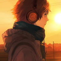 戴耳机的卡通少年头像图片39