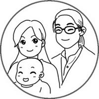 全家福一家三口卡通头像图片8