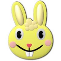 卡通兔子的头像_