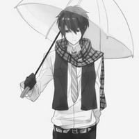 打伞伤感少年