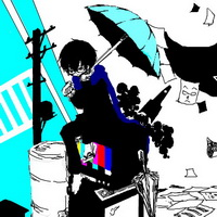 打伞伤感男生下雨打伞兄弟情头像图片11