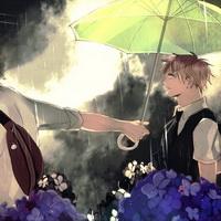 打伞伤感男生下雨打伞兄弟情头像图片13