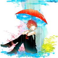 打伞伤感男生下雨打伞兄弟情头像图片43