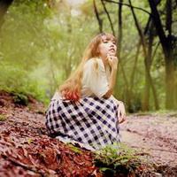 森林系女孩儿头像图片8