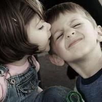 偶尔可爱情侣小孩儿情侣头像图片12