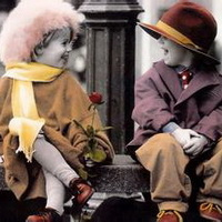 偶尔可爱情侣小孩儿情侣头像图片13