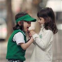 偶尔可爱情侣小孩儿情侣头像图片15