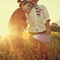 偶尔可爱情侣小孩儿情侣头像图片18