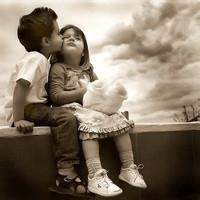 偶尔可爱情侣小孩儿情侣头像图片23