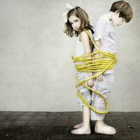 偶尔可爱情侣小孩儿情侣头像图片32