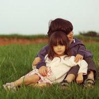 偶尔可爱情侣小孩儿情侣头像图片5