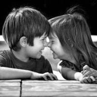 偶尔可爱情侣小孩儿情侣头像图片9