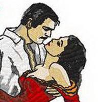 情侣深情对望凝视头像图片3