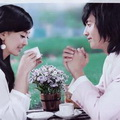 喝咖啡情侣唯美头像图片18