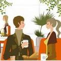 喝咖啡情侣唯美头像图片26