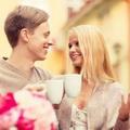 喝咖啡情侣唯美头像图片8