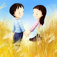 韩国风情情侣韩国唯美小孩儿头像图片17
