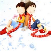 韩国风情情侣韩国唯美小孩儿头像图片18