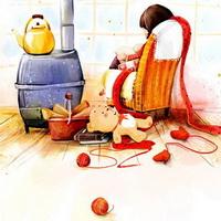 韩国风情情侣韩国唯美小孩儿头像图片25