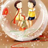 韩国风情情侣韩国唯美小孩儿头像图片28