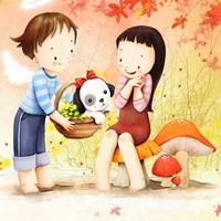 韩国风情情侣韩国唯美小孩儿头像图片3