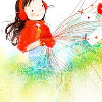 韩国风情情侣韩国唯美小孩儿头像图片31