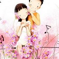 韩国风情情侣韩国唯美小孩儿头像图片33