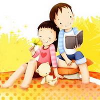 韩国风情情侣韩国唯美小孩儿头像图片4