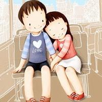 韩国风情情侣韩国唯美小孩儿头像图片7