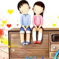 韩国风情情侣韩国唯美小孩儿头像图片8