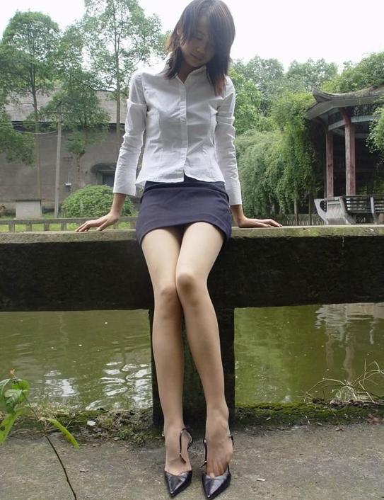 韩国白丝袜美女