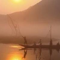唯美钓鱼湖边头像图片10