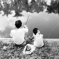 唯美钓鱼湖边头像图片14