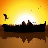 唯美钓鱼湖边头像图片18