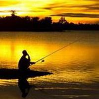 唯美钓鱼湖边头像图片2