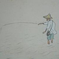 唯美钓鱼湖边头像图片23