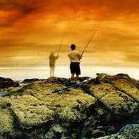 唯美钓鱼湖边头像图片26