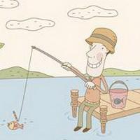 唯美钓鱼湖边头像图片27