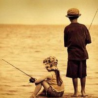 唯美钓鱼湖边头像图片30