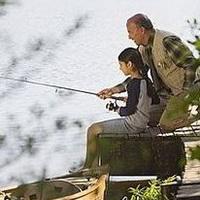 唯美钓鱼湖边头像图片31