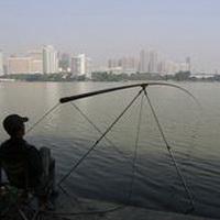 唯美钓鱼湖边头像图片5